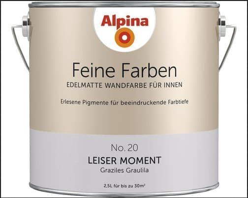 alpina feine farbe nr 20 leiser moment minimalismus green lifestyle und pers nliche. Black Bedroom Furniture Sets. Home Design Ideas