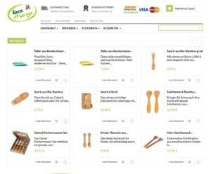 BeeChange_Online Shop Startseite 09 2016